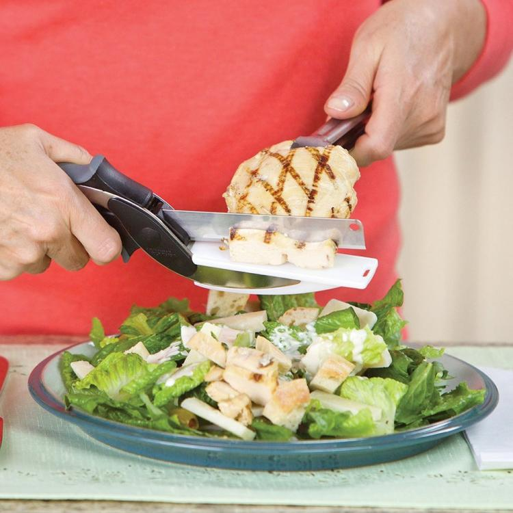 Kitchen Shears With Built-in Cutting Board - Multipurpose Kitchen Scissors - Use Anywhere!
