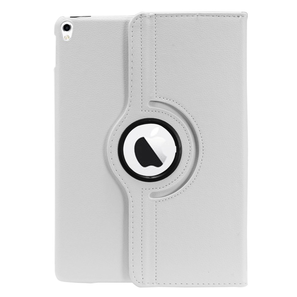 Apple iPad Pro 2 (10.5 inch) Leather Case, [White] Slim Protective PU Leather Tablet Hard Case w/ Stand and Rotatable Shield