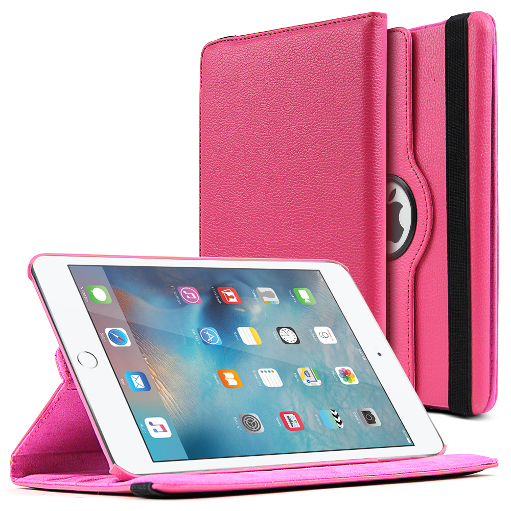 Made for Apple iPad Mini 4 Case [Hot Pink] Slim Protective PU Leather Tablet Case w/ Stand and Rotatable Shield [Perfect Fitting Apple iPad Mini 4 Case] by Redshield