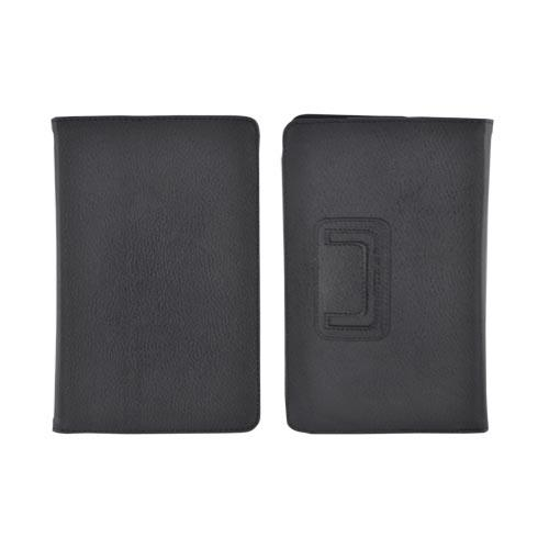 Premium Amazon Kindle Fire Leather Stand Case w/ Magnetic Closure - Black