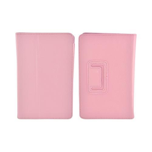 Premium Amazon Kindle Fire Leather Stand Case w/ Magnetic Closure - Rose Pink
