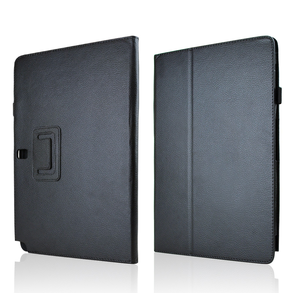 Black Faux Leather Case Stand w/ Magnetic Closure for Samsung Galaxy Note PRO 12.2