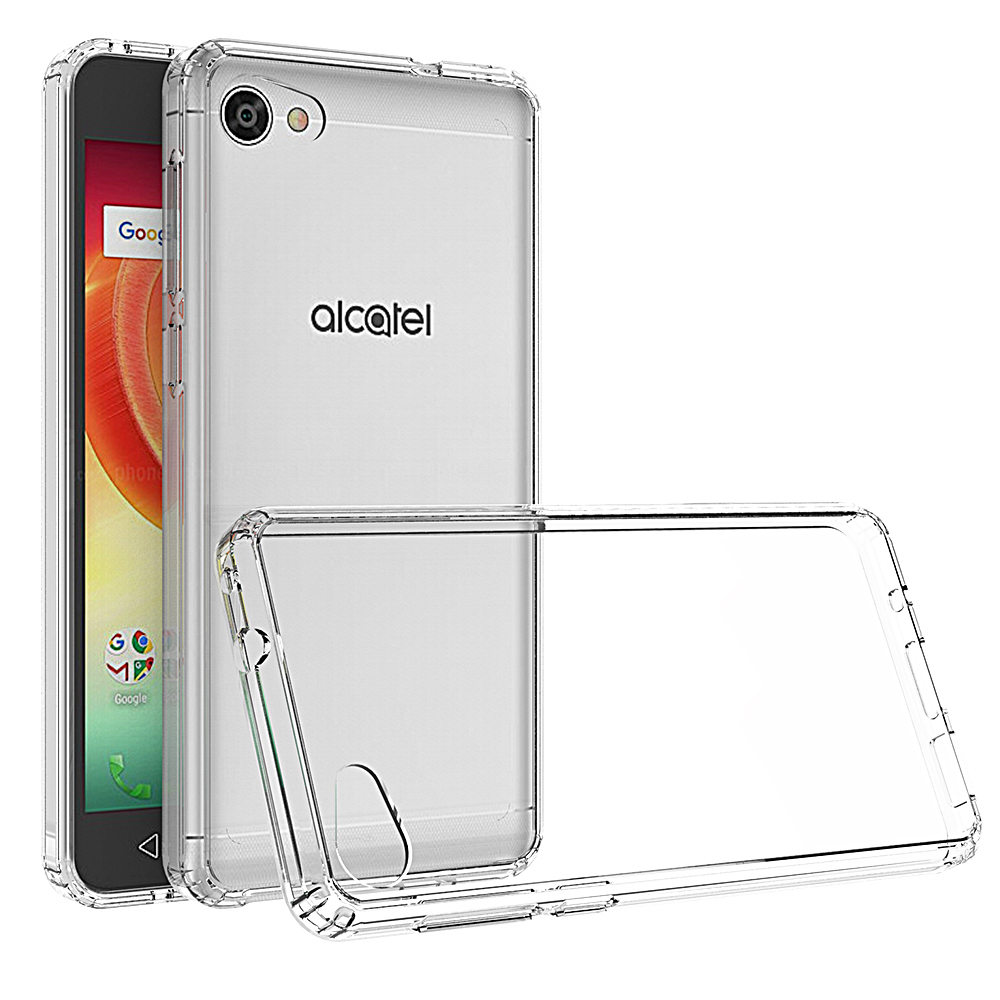 [REDshield] Alcatel Crave/ PulseMix/ A50 TPU Case, Slim & Flexible Anti-shock Crystal Silicone Protective TPU Gel Skin Case [Clear]