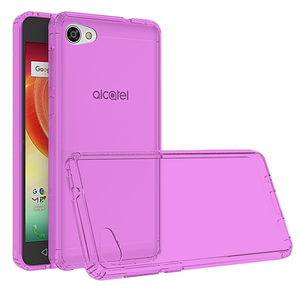 [REDshield] Alcatel Crave/ PulseMix/ A50 TPU Case, Slim & Flexible Anti-shock Crystal Silicone Protective TPU Gel Skin Case [Hot Pink]