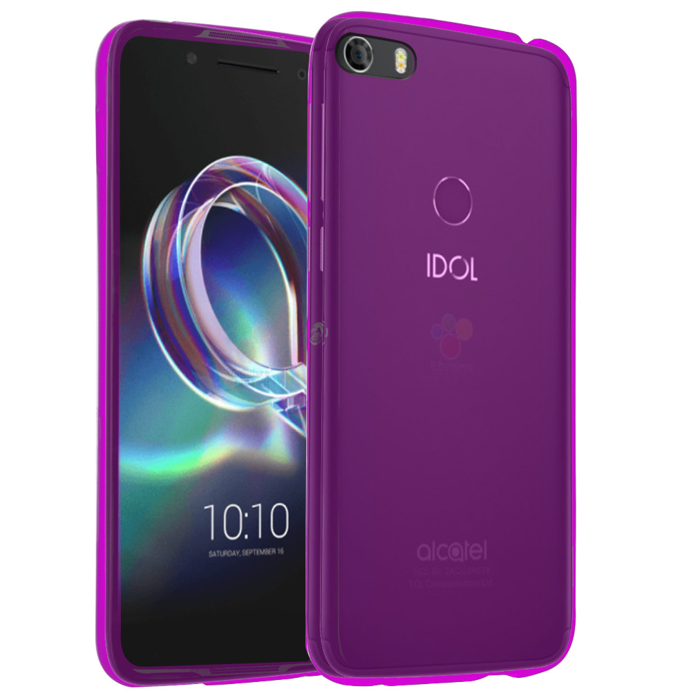 [REDshield] Alcatel Idol 5 TPU Case, Slim & Flexible Anti-shock Crystal Silicone Protective TPU Gel Skin Case [Hot Pink]