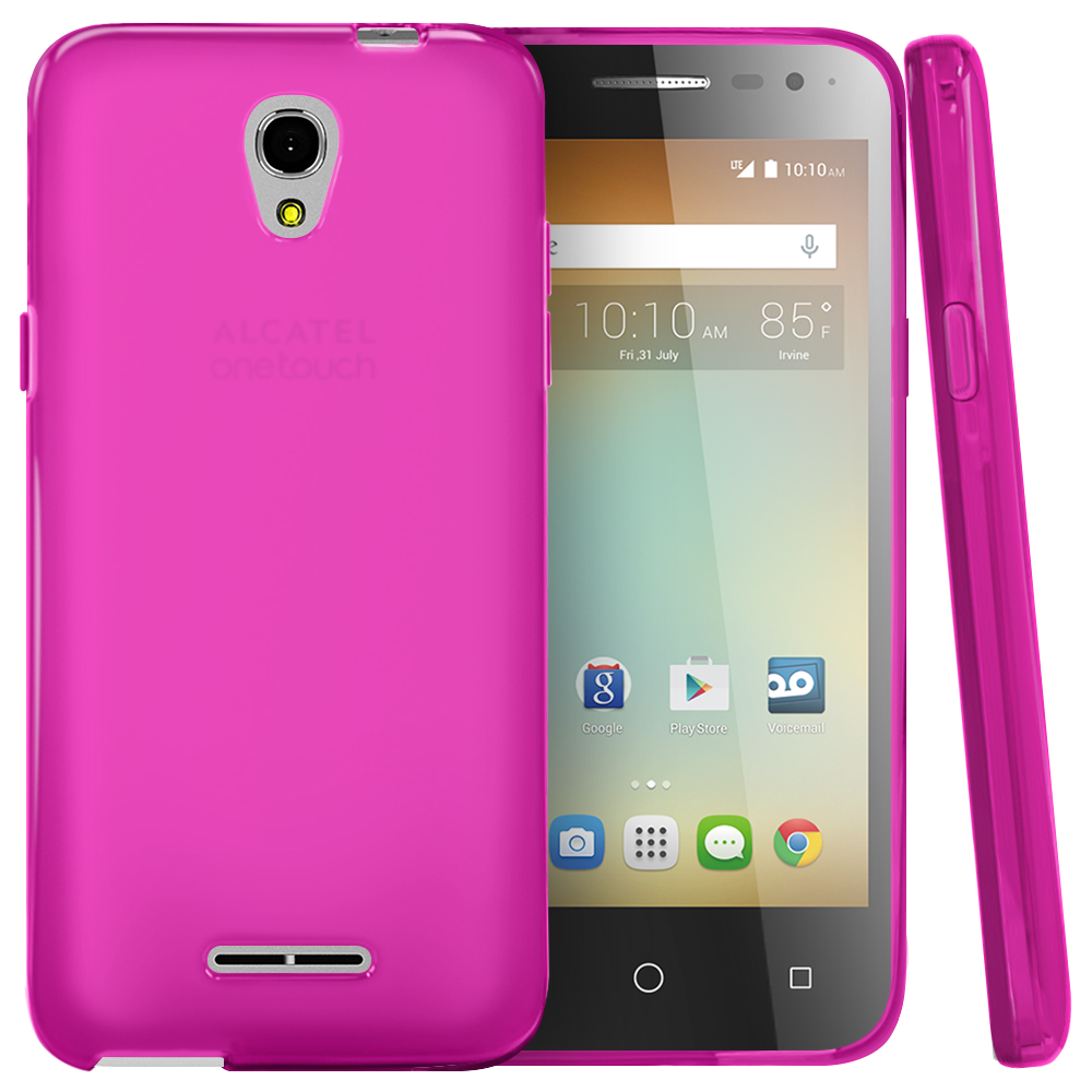 Alcatel OneTouch Elevate Case, [Hot Pink] Slim & Flexible Crystal Silicone TPU Protective Case