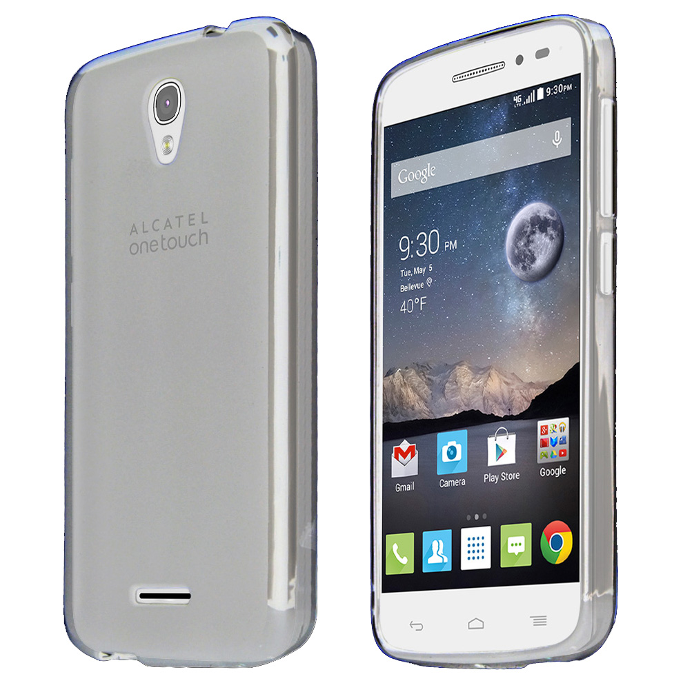 Alcatel Onetouch POP Astro Case, CLEAR Slim & Flexible Anti-shock Crystal Silicone TPU Skin Protective Case