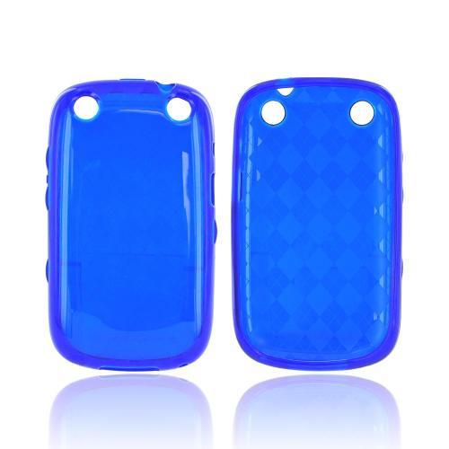 BlackBerry Curve 9310/9320 Crystal Silicone Case - Argyle Blue
