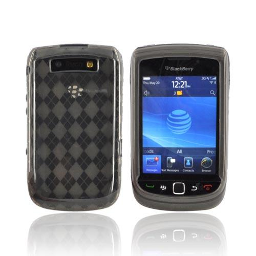 Blackberry Torch 9800 Crystal Silicone Case - Argyle Smoke