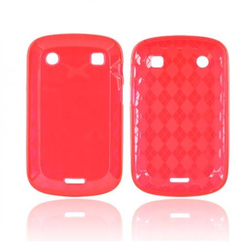 Blackberry Bold 9900, 9930 Crystal Silicone Case - Argyle Red
