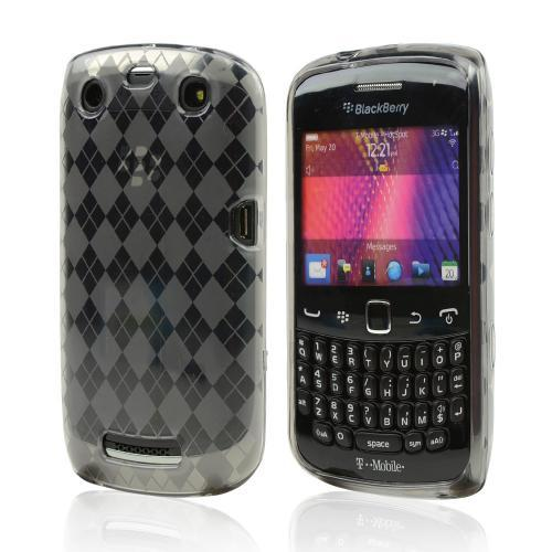 Blackberry Curve 9360/ Apollo Crystal Silicone Case - Argyle Smoke