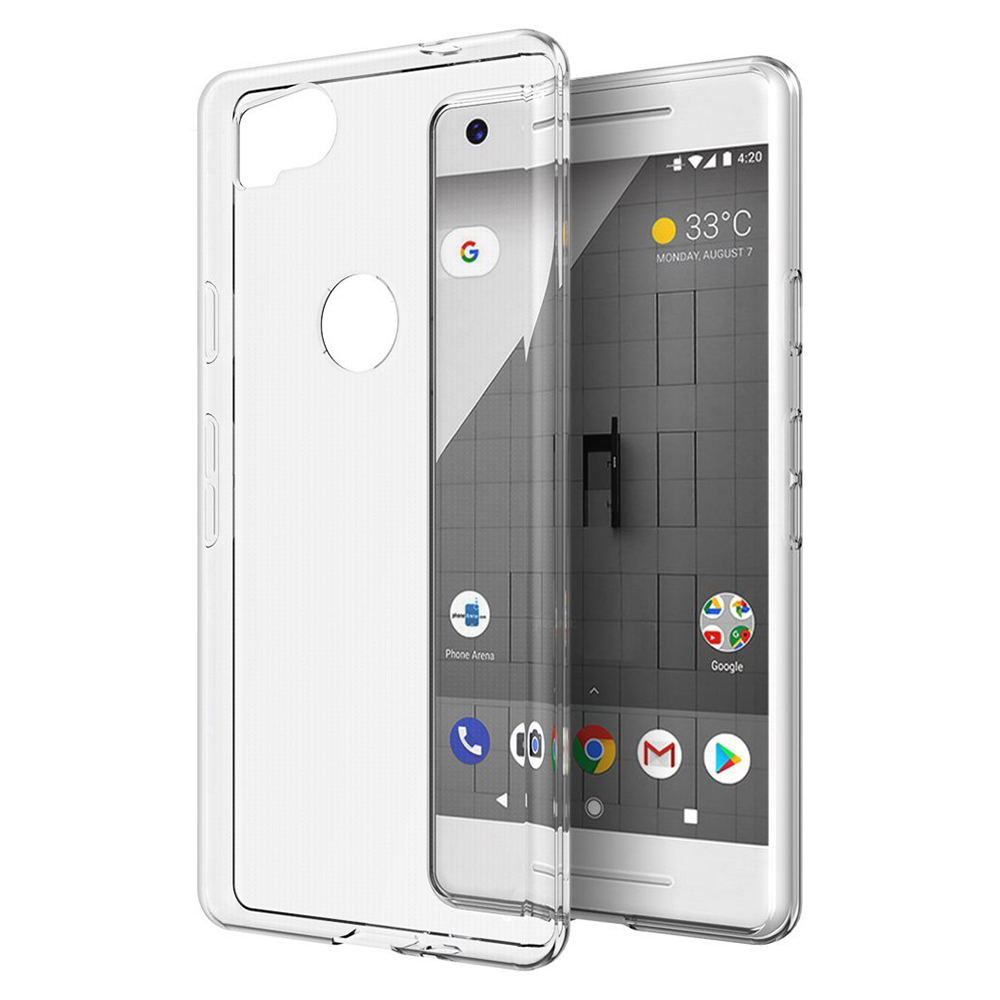 Google Pixel 2 Case, Slim & Flexible Anti-shock Crystal Silicone Protective TPU Gel Skin Case Cover [Clear]