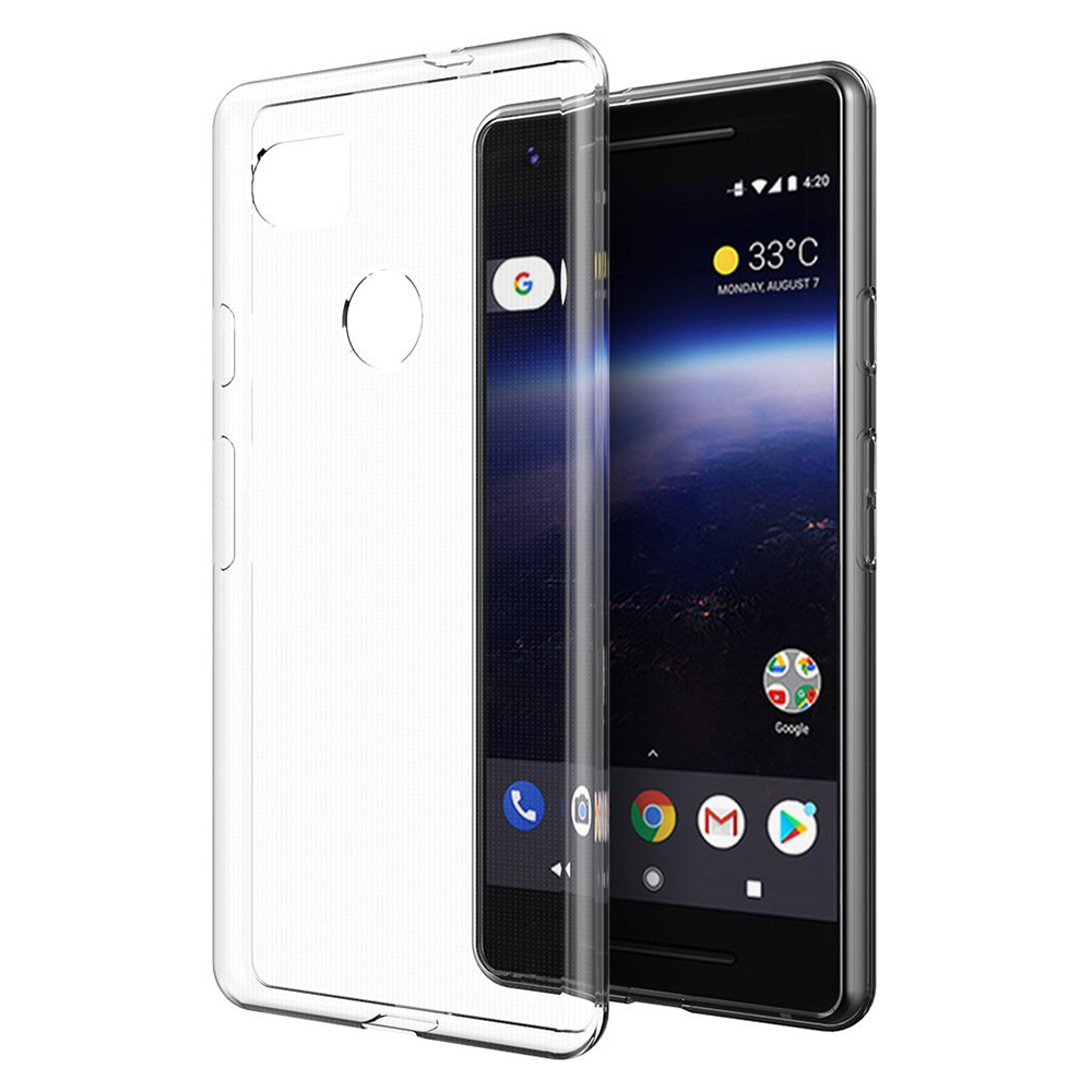 Google Pixel XL 2 Case, Slim & Flexible Anti-shock Crystal Silicone Protective TPU Gel Skin Case Cover [Clear]