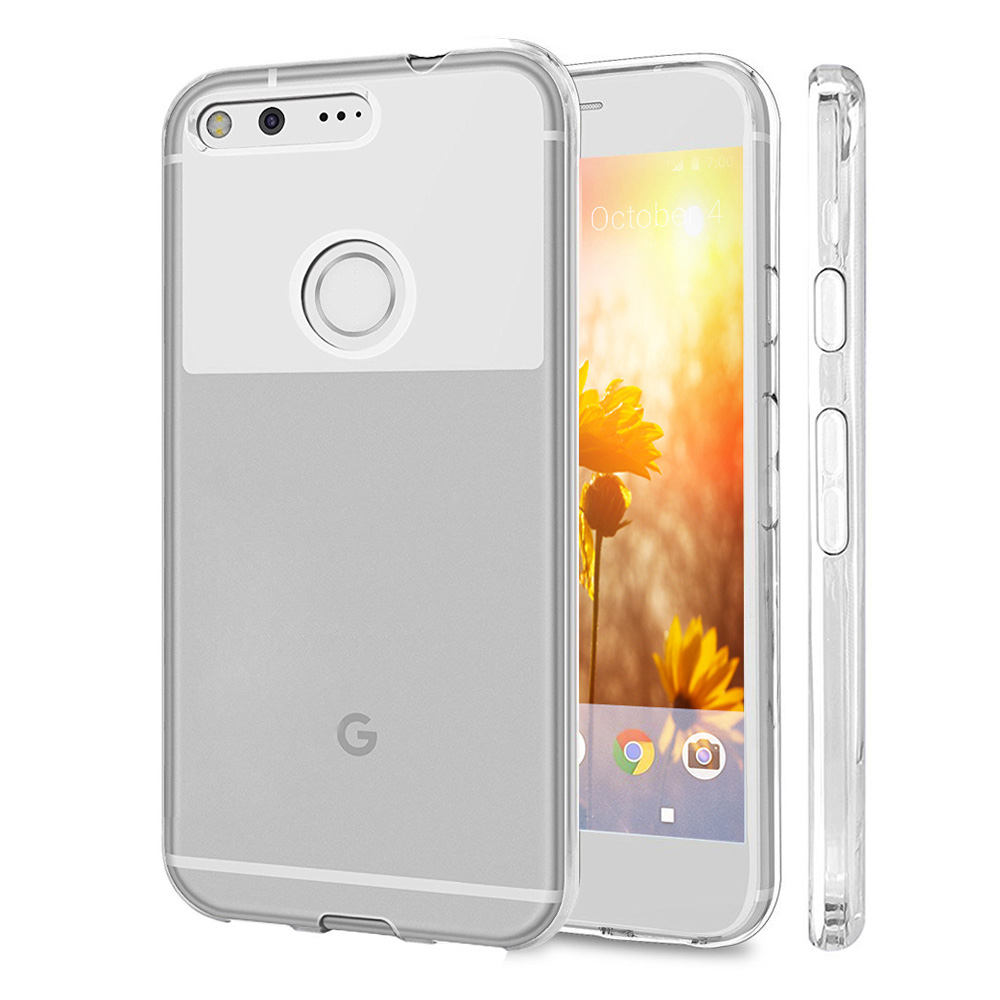 [Google Pixel XL] Case, REDshield [Clear] Slim & Flexible Anti-shock Crystal Silicone Protective TPU Gel Skin Case Cover with Travel Wallet Phone Stand