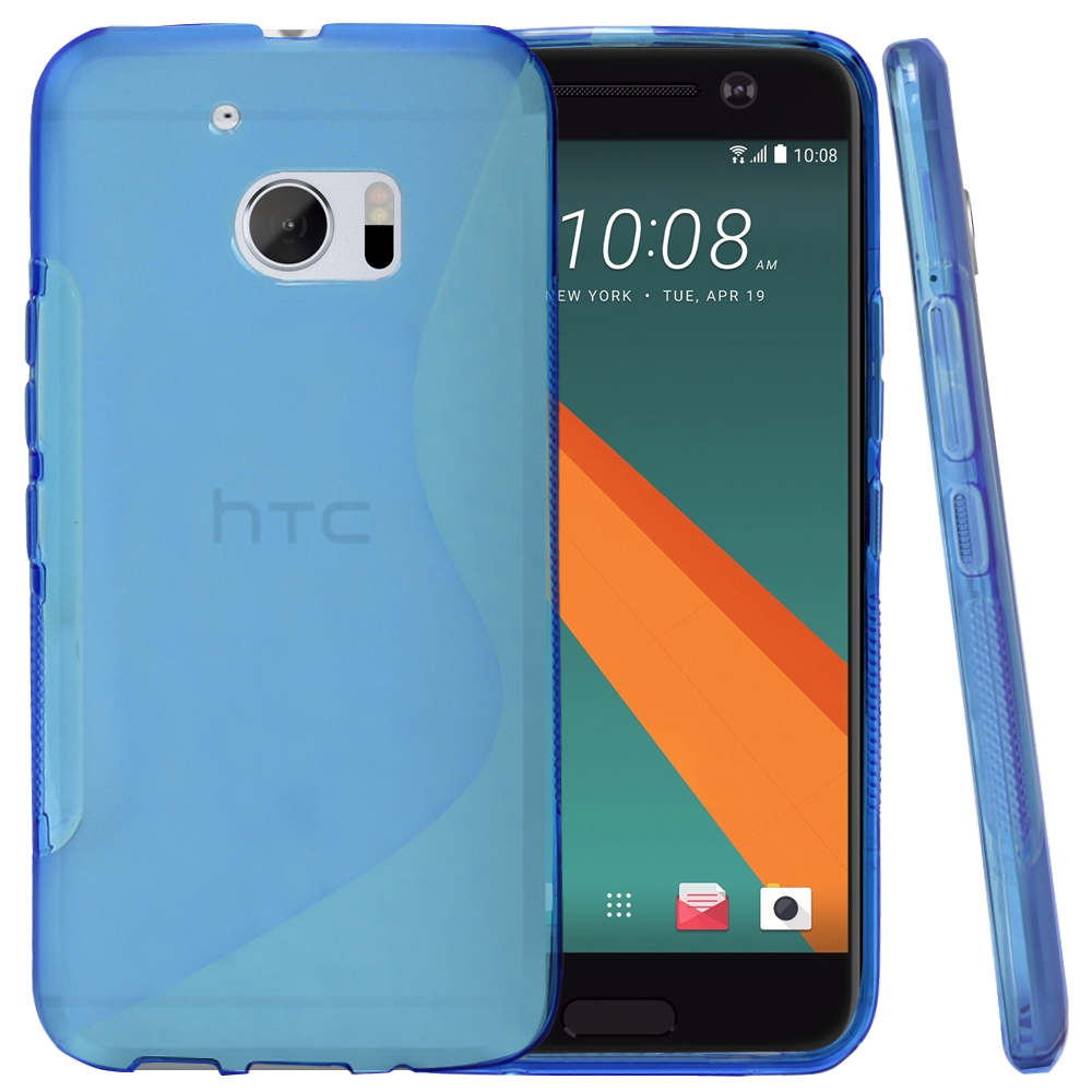 HTC 10 Case, REDshield [Blue]  Slim & Flexible Anti-shock Crystal Silicone Protective TPU Gel Skin Case Cover with Travel Wallet Phone Stand