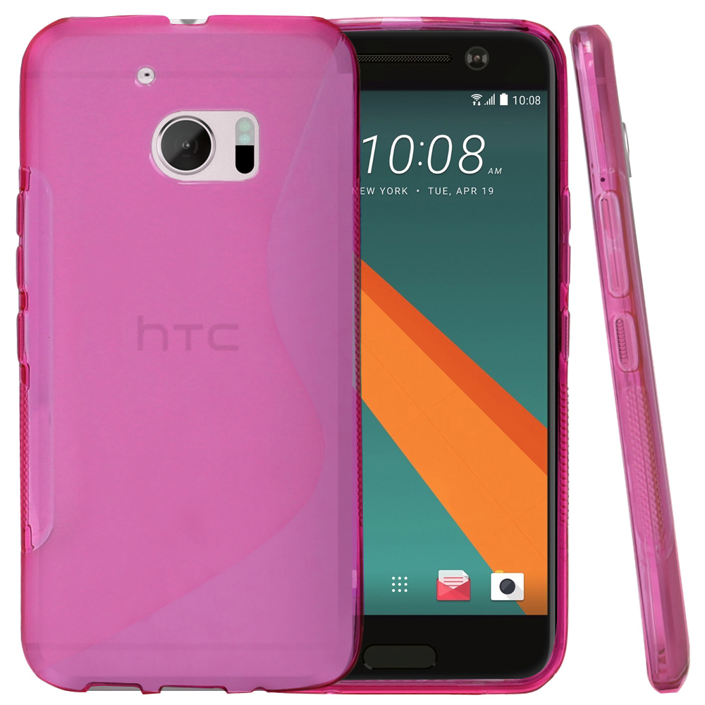 HTC 10 Case, REDshield [Frost Hot Pink] Durable Crystal Silicone Protective TPU Gel Skin Case Cover with Travel Wallet Phone Stand