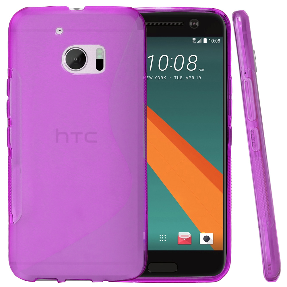 HTC 10 Case, REDshield [Frost Purple] Durable Crystal Silicone Protective TPU Gel Skin Case Cover with Travel Wallet Phone Stand