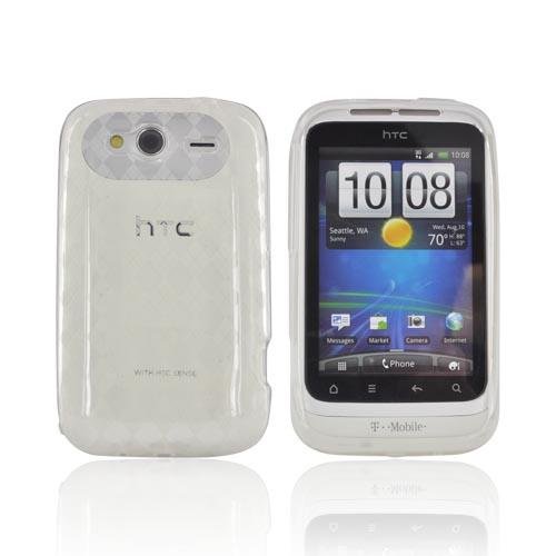 T-Mobile HTC Wildfire S Crystal Silicone Case - Argyle Clear