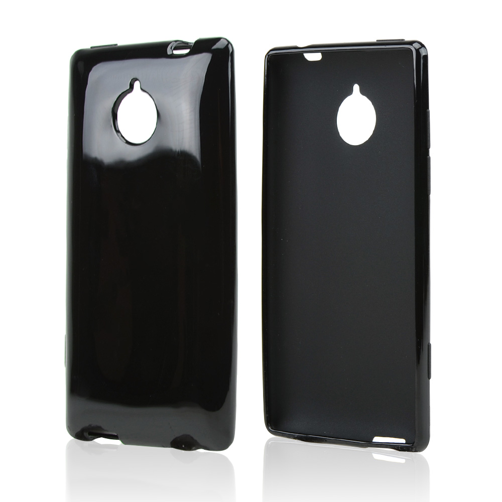 Black Crystal Silicone Skin Case for HTC 8XT
