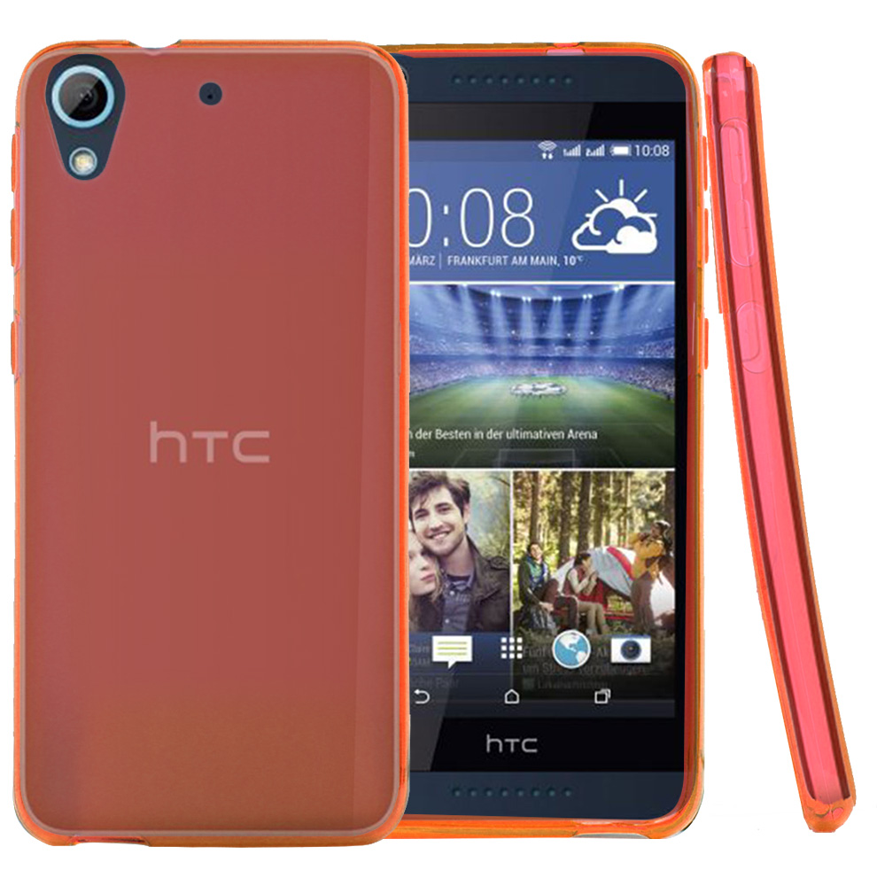 HTC Desire 626 Case, [Red] Slim & Flexible Crystal Silicone TPU Protective Case