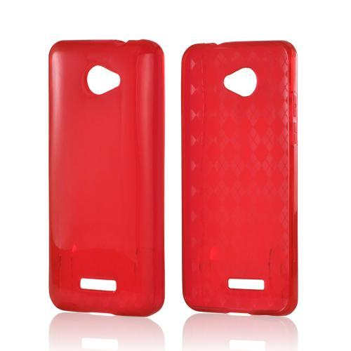 Argyle Red Crystal Silicone Case for HTC Droid DNA