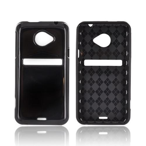 HTC EVO 4G LTE Crystal Silicone Case - Argyle Black