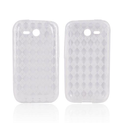HTC FreeStyle Crystal Silicone Case - Argyle Clear