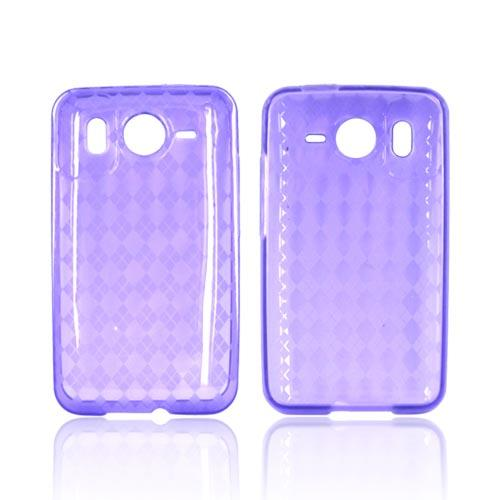 HTC Inspire 4G Crystal Silicone Case - Argyle on Purple
