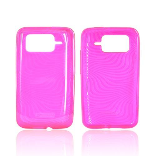 HTC Inspire 4G Crystal Silicone Case - Hot Pink Waves