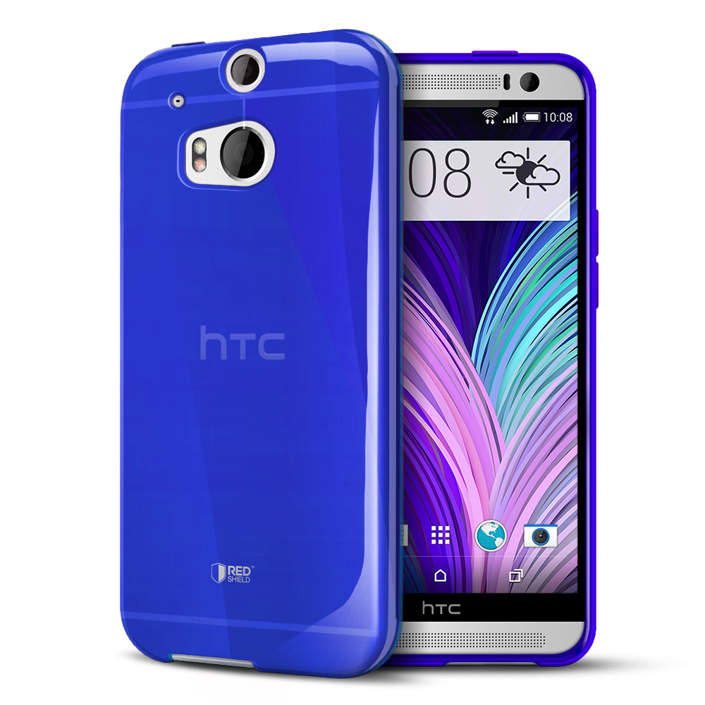 Blue Crystal Silicone TPU Flexible Skin Case for HTC One (M8)