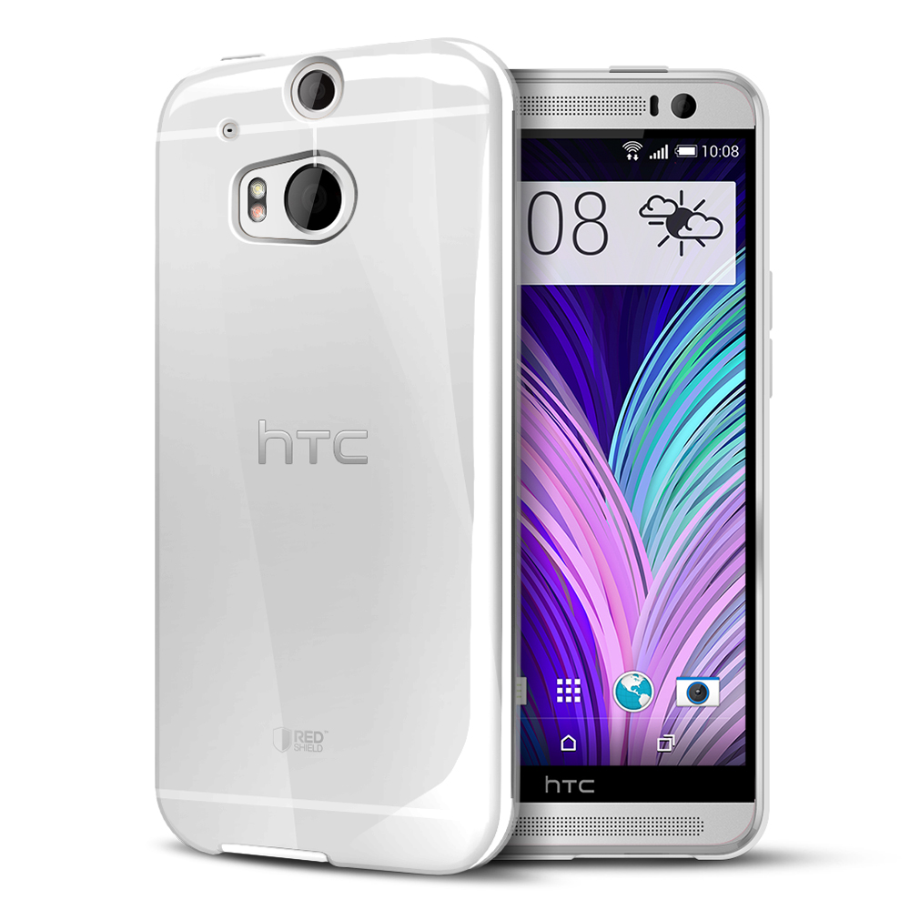Clear Crystal/ Frost Silicone TPU Flexible Skin Case for HTC One (M8)