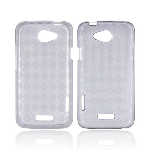 HTC One X Crystal Silicone Case - Argyle Smoke