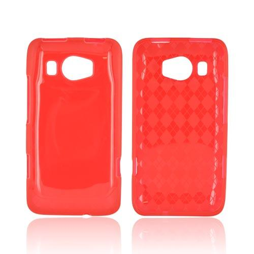 HTC Titan 2 Crystal Silicone Case - Argyle Red