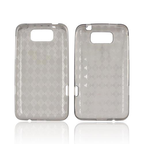 HTC Titan Crystal Silicone Case - Argyle Smoke