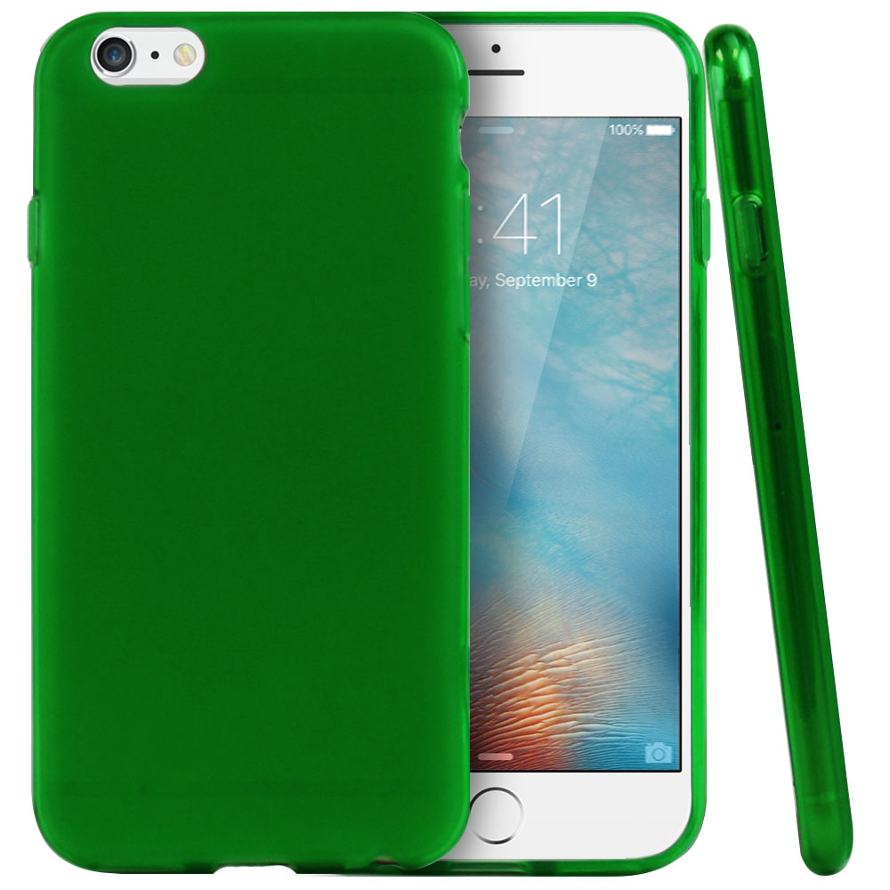 Made for Apple iPhone 6/ 6S Case, [Neon Green / Frost] Slim Flexible Anti-shock Crystal Silicone Protective TPU Gel Skin Case Cover  with Travel Wallet Phone Stand by Redshield