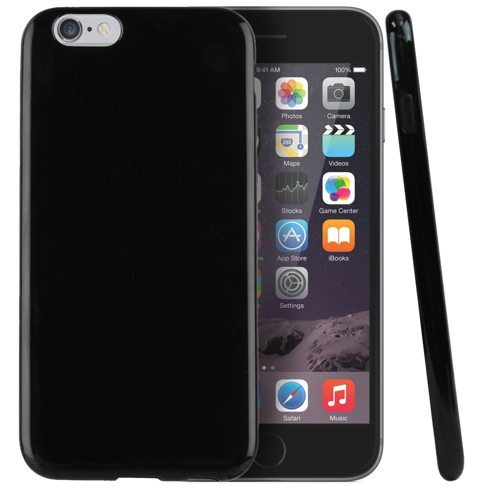Apple iPhone 6 PLUS/6S PLUS (5.5 inch) Case,  [Black Crystal]  Slim & Flexible Anti-shock Crystal Silicone Protective TPU Gel Skin Case Cover
