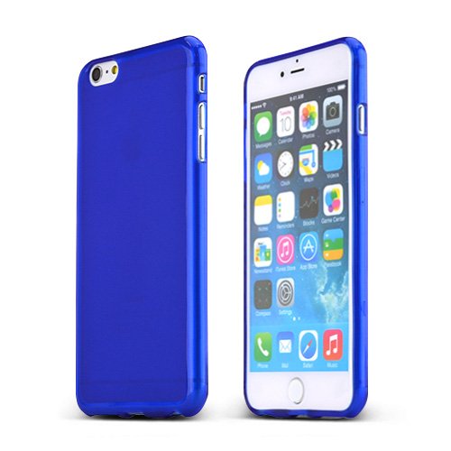 Apple iPhone 6 PLUS/6S PLUS (5.5 inch) Case,  [Blue/ Frost]  Slim & Flexible Anti-shock Crystal Silicone Protective TPU Gel Skin Case Cover