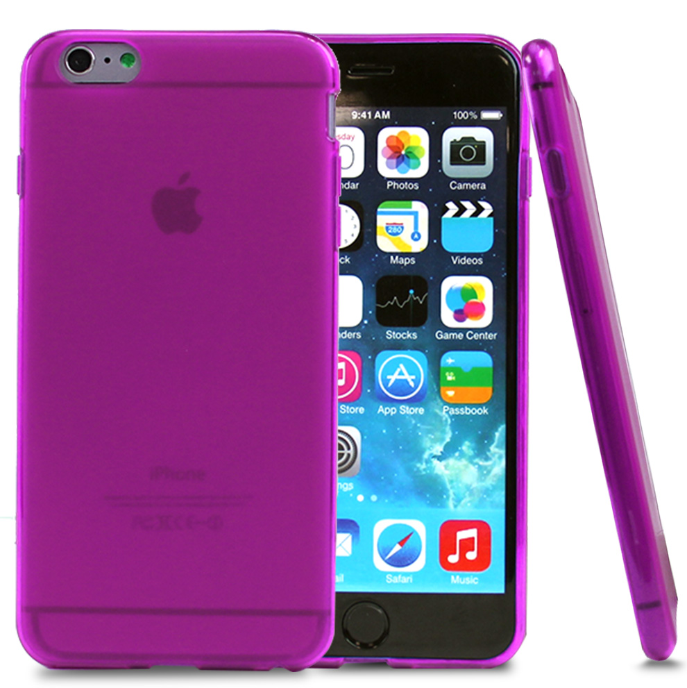Apple iPhone 6 PLUS/6S PLUS (5.5 inch) Case,  [Hot Pink/ Frost]  Slim & Flexible Anti-shock Crystal Silicone Protective TPU Gel Skin Case Cover
