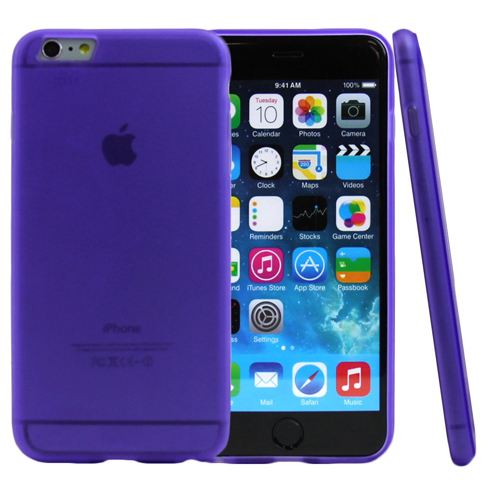 Made for Apple iPhone 6 PLUS/6S PLUS (5.5 inch) Case,  [Purple/ Frost]  Slim Flexible Anti-shock Crystal Silicone Protective TPU Gel Skin Case Cover by Redshield