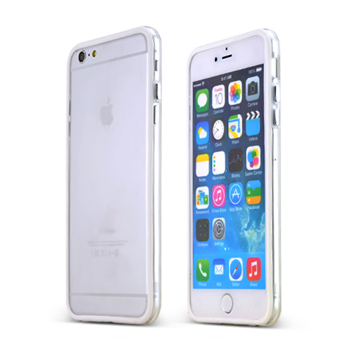 Apple iPhone 6 PLUS/6S PLUS (5.5 inch) Case,  [White Crystal]  Slim & Flexible Anti-shock Crystal Silicone Protective TPU Gel Skin Case Cover w/ Metal Buttons