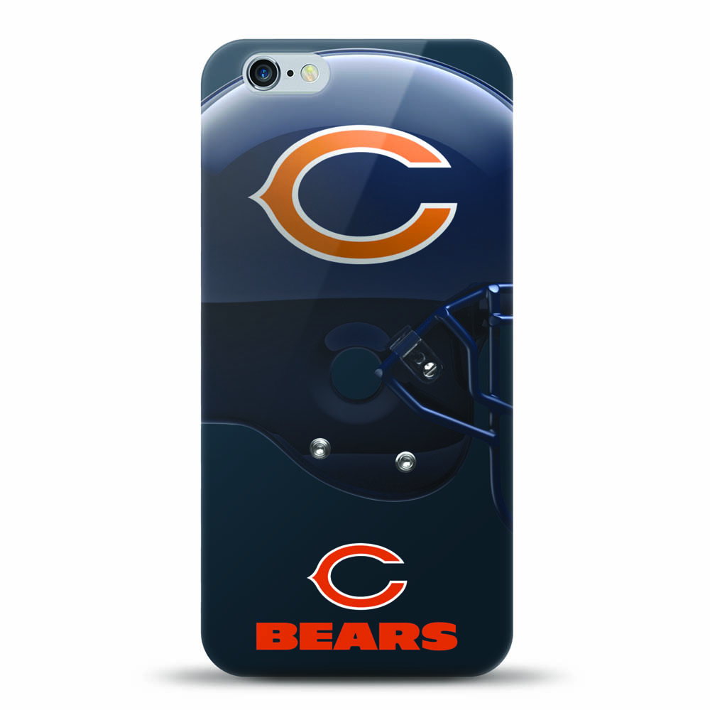 [MIZCO] Apple iPhone 6S / 6 Case, Helmet Series NFL Licensed [Chicago Bears] Slim & Flexible Anti-shock Crystal Silicone Protective TPU Gel Skin Case Cover