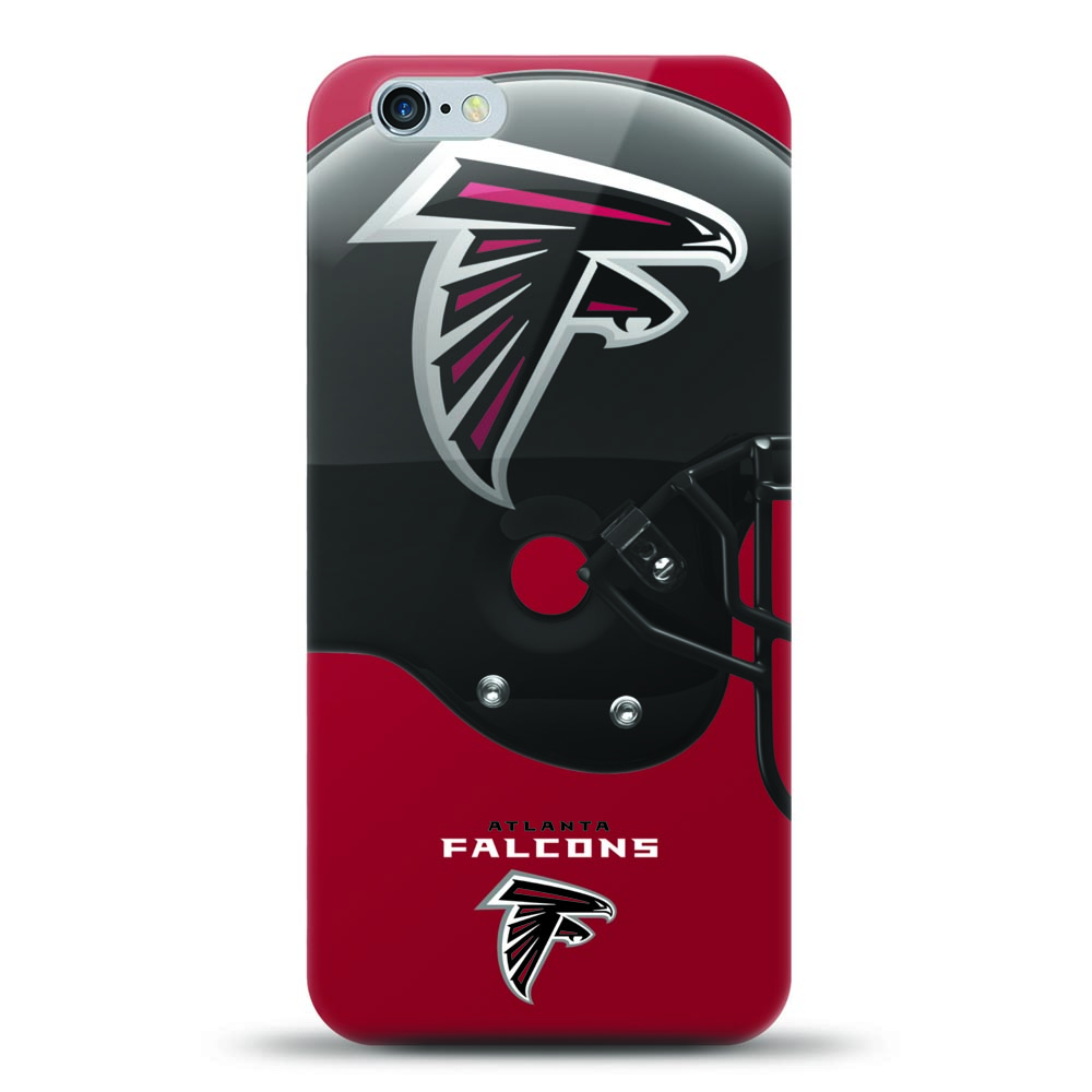 [MIZCO] Apple iPhone 6S / 6 Case, Helmet Series NFL Licensed [Atlanta Falcons] Slim & Flexible Anti-shock Crystal Silicone Protective TPU Gel Skin Case Cover