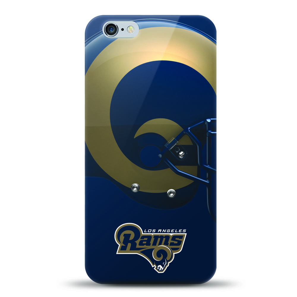 [MIZCO] Apple iPhone 6S / 6 Case, Helmet Series NFL Licensed [Los Angeles Rams] Slim & Flexible Anti-shock Crystal Silicone Protective TPU Gel Skin Case Cover