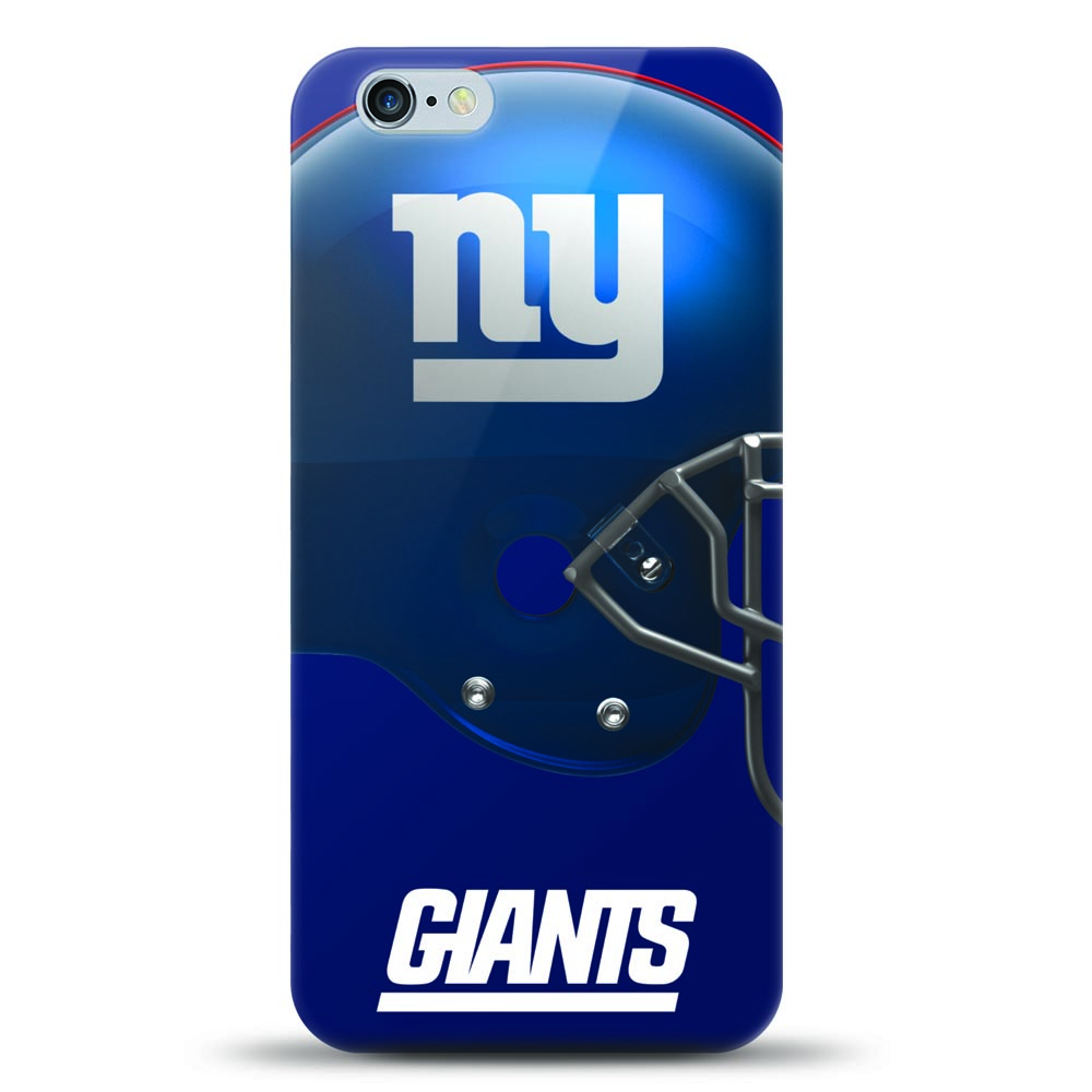 [MIZCO] Apple iPhone 6S / 6 Case, Helmet Series NFL Licensed [New York Giants] Slim & Flexible Anti-shock Crystal Silicone Protective TPU Gel Skin Case Cover