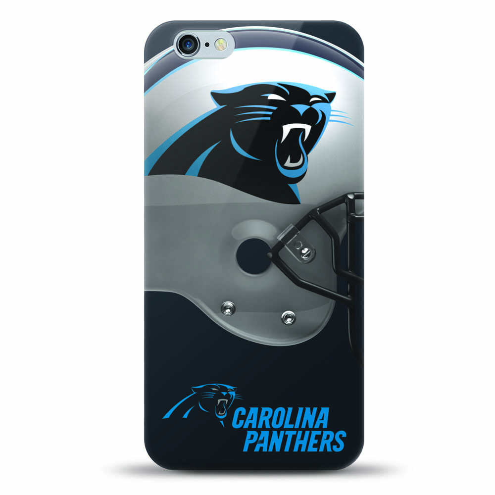 [MIZCO] Apple iPhone 6S / 6 Case, Helmet Series NFL Licensed [Carolina Panthers] Slim & Flexible Anti-shock Crystal Silicone Protective TPU Gel Skin Case Cover