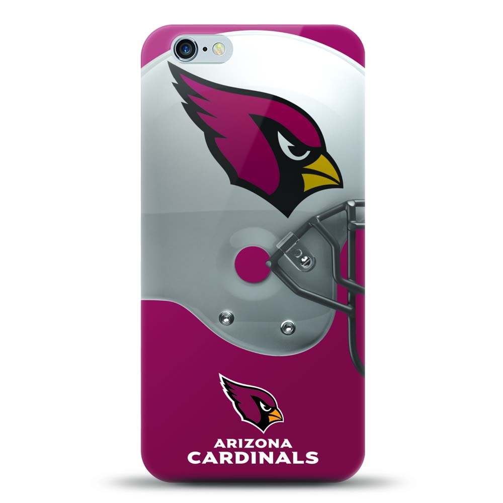 [MIZCO] Apple iPhone 6S Plus / 6 Plus Case, Helmet Series NFL Licensed [Arizona Cardinals] Slim & Flexible Anti-shock Crystal Silicone Protective TPU Gel Skin Case Cover