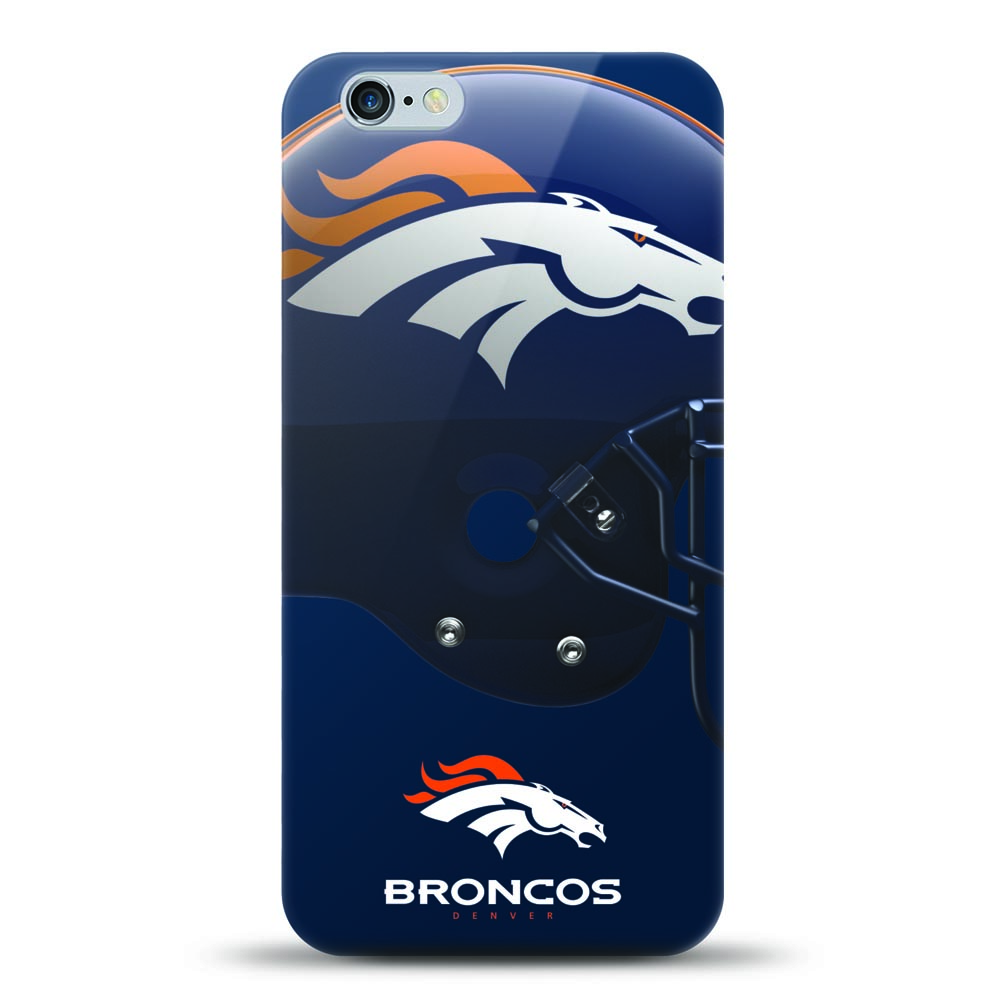 Made for Apple iPhone 6S Plus / 6 Plus Case, Helmet Series NFL Licensed [Denver Broncos] Slim Flexible Anti-shock Crystal Silicone Protective TPU Gel Skin Case Cover by Mizco