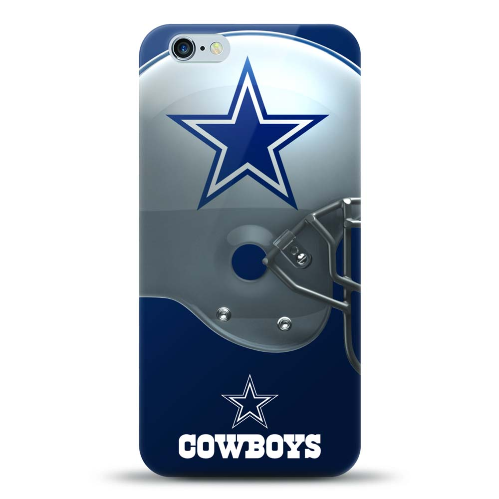 [MIZCO] Apple iPhone 6S Plus / 6 Plus Case, Helmet Series NFL Licensed [Dallas Cowboys] Slim & Flexible Anti-shock Crystal Silicone Protective TPU Gel Skin Case Cover