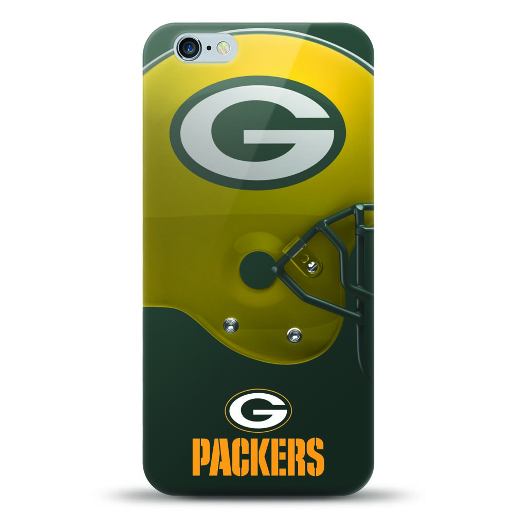 [MIZCO] Apple iPhone 6S Plus / 6 Plus Case, Helmet Series NFL Licensed [Green Bay Packers] Slim & Flexible Anti-shock Crystal Silicone Protective TPU Gel Skin Case Cover