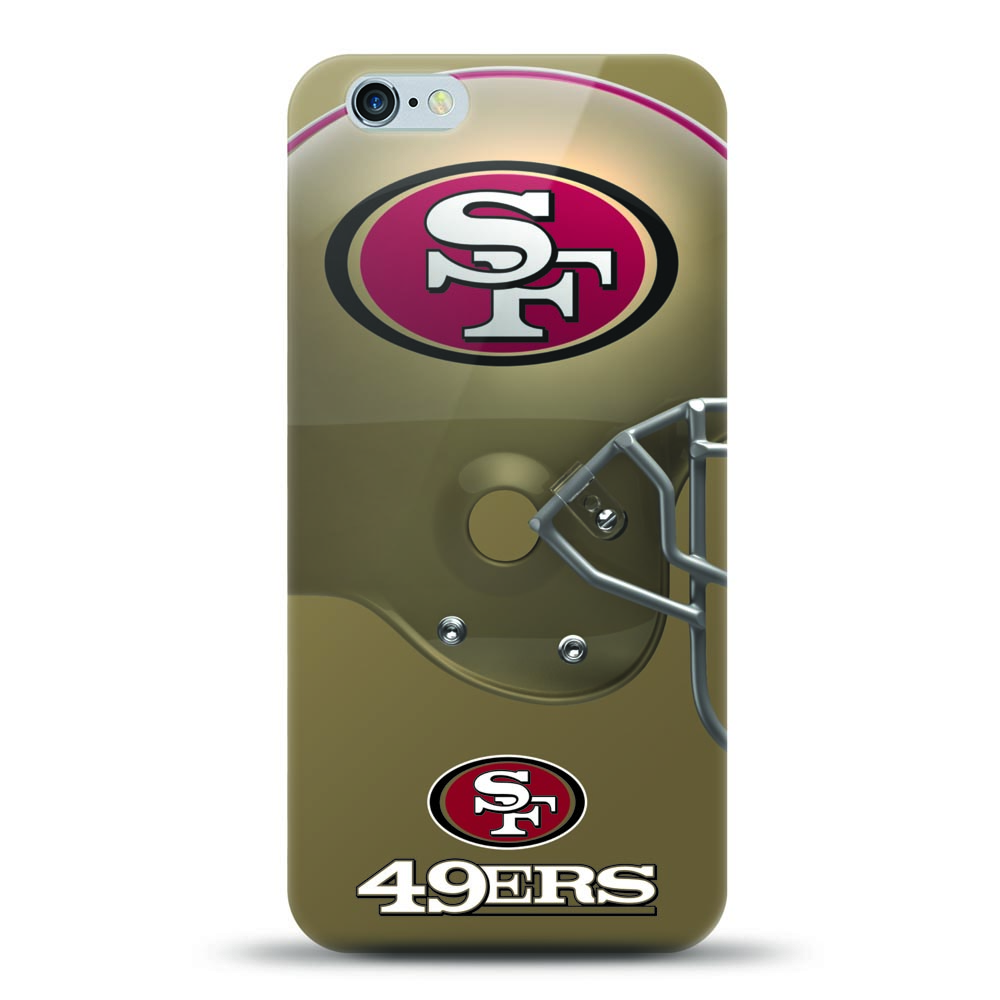[MIZCO] Apple iPhone 6S Plus / 6 Plus Case, Helmet Series NFL Licensed [San Francisco 49ers] Slim & Flexible Anti-shock Crystal Silicone Protective TPU Gel Skin Case Cover